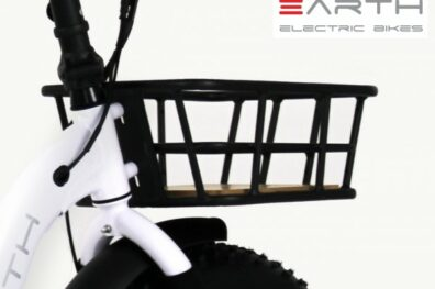 Earth Ant Ebike White Fat Tire Folding Ebike Front Basket Only 600x600