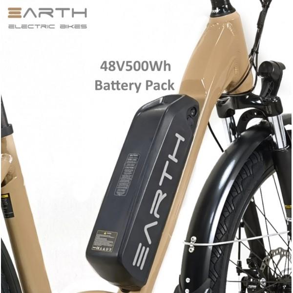 Earth Air Step Thru Electric Bike Beige 1 600x600