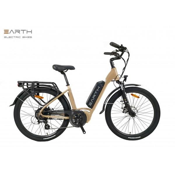 Earth Air Step Thru Electric Bike Beige 600x600