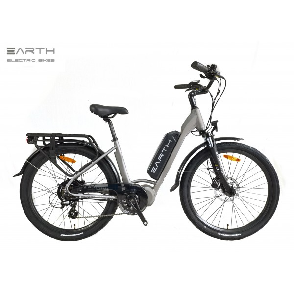 Earth Air+charcoal Step Thru Mixie Electric Bike 600x600
