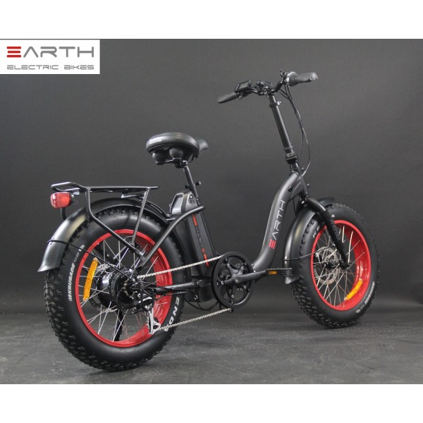 Eart Fat Tire Folding Ebike Black Without Basket Low Res 600x600