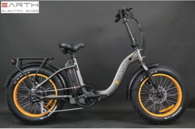Earth 20inch Fat Tire Folding Ebike Charcoal Without Basket 600x600