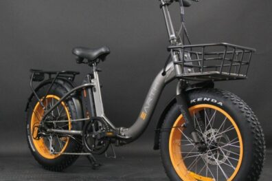 Earth Fat Tire Folding Ebike Charcoal With Basket 11 600x600
