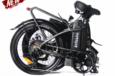 Earth Tx 20 Folding Ebike Grey Folded 600x600